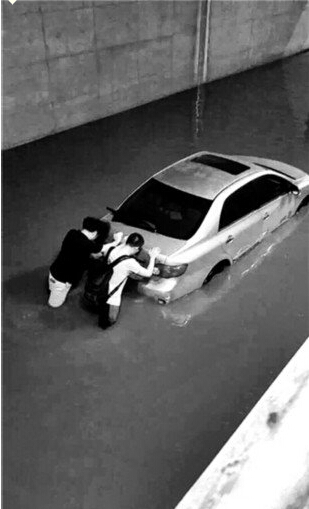 大雨袭京城内八处积水